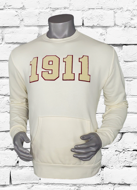 CREAM CHENILLE 1911 SWEATSHIRT
