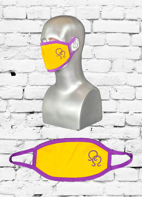 This ΩΨΦ Cotton Mask is a great to wear during these trying times in our country. The mask is comfortable, reusable, and washable. Enjoy the functionality while you show off your ΩΨΦ pride with embroidered fraternity face mask.