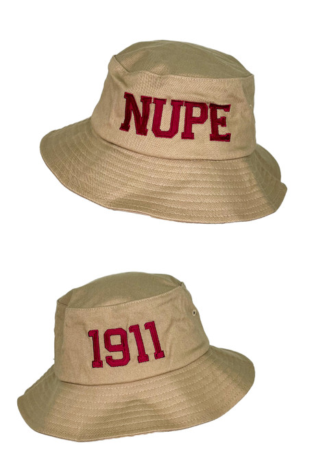 """The ΚΑΨ Nupe Bucket Hat has embroidered """"NUPE"""" & """"1911""""  designs placed on the front and rear to provide a very clean and classic look. This hat will make the perfect gift for any member of Kappa Alpha Psi Fraternity Inc."""