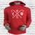 Kappa Alpha Psi stylish pullover hoodie made with triple-layer, double-jersey performance fleece for superior comfort and unique feel.  Fashionable slim fit profile features side seam splits with zippers, contrast front and back length, and reverse front pouch pocket for a sleek look.