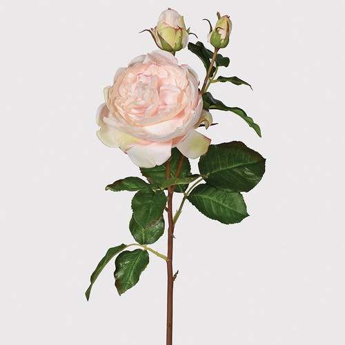 'real feel' faux palest pink roses