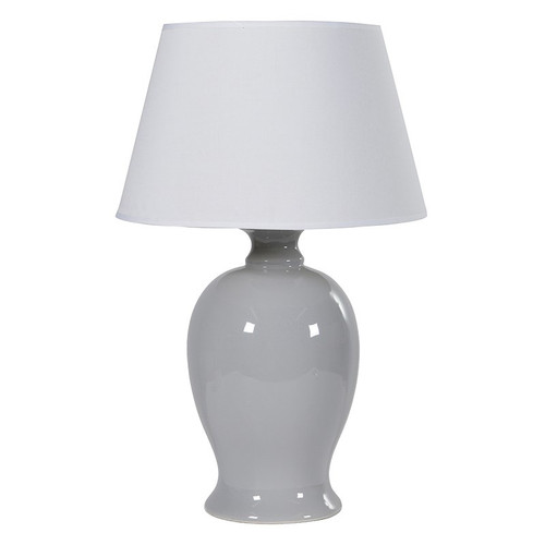 Blue/Grey Ceramic Table Lamp with White Shade