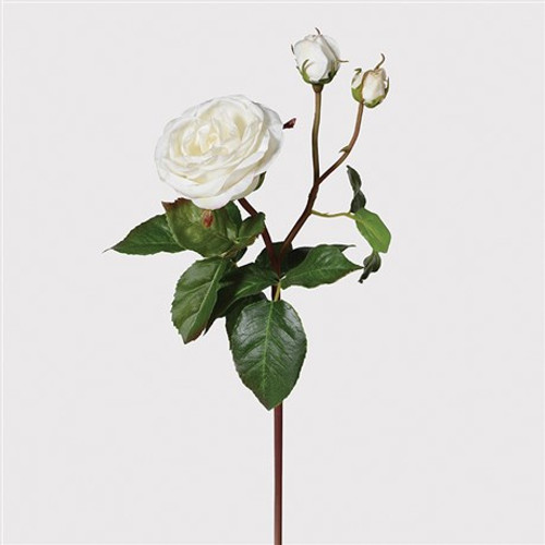 'real feel' faux white princess roses