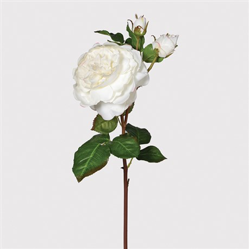 White 'Real Feel' Rose Spray