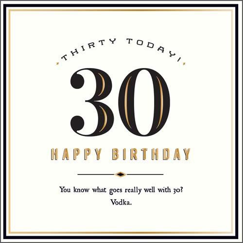 30 Today Birthday Card