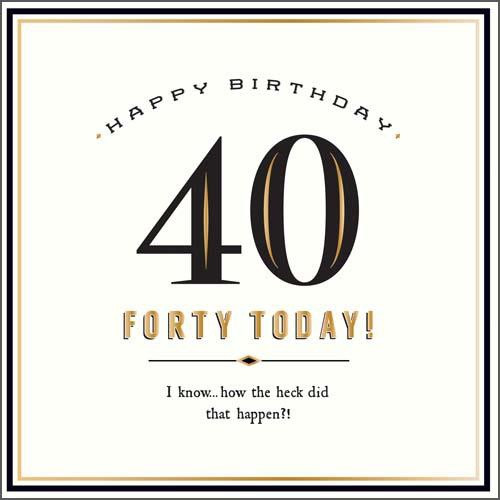 40 Today Birthday Card