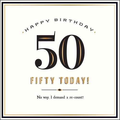 50 Today Birthday Card