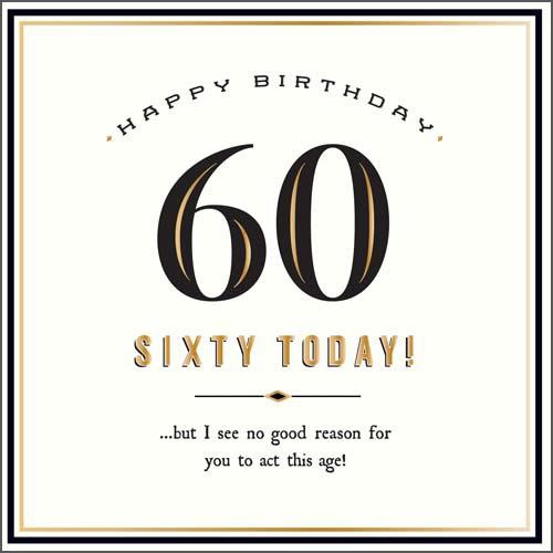 60 Today Birthday Card