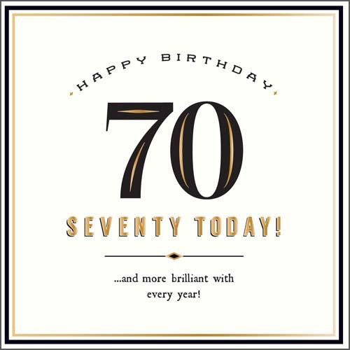 70 Today Birthday Card