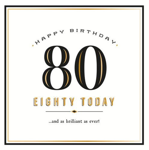 80 Today Birthday Card