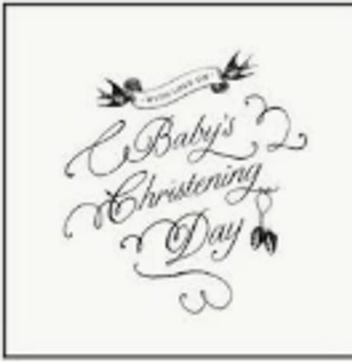 Baby's Christening Day Card