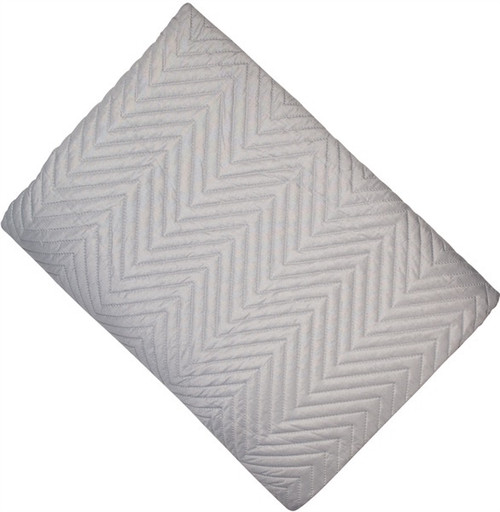 A lightweight chevron design quilt with a cotton feel in smoky grey- a great neutral base for building up a gorgeous spread.