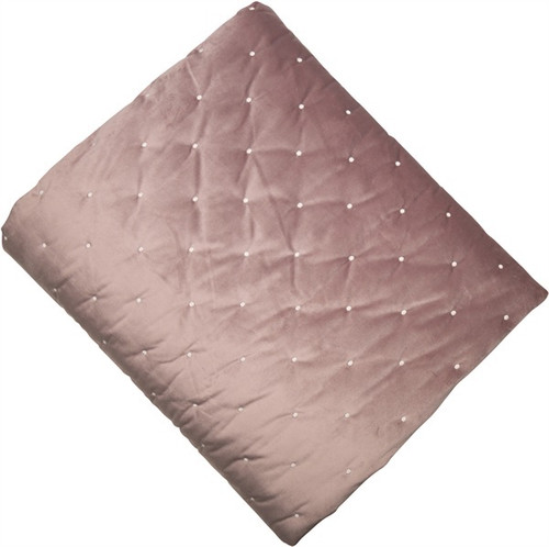A beautiful rose/pink velvet quilt with a pocket sprung quilt effect adding a touch of luxury to any bedroom.