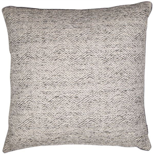 This Malini jacquard cushion in grey has a ripple chevron pattern on a soft coloured ground fabric. With matching piped edges.
