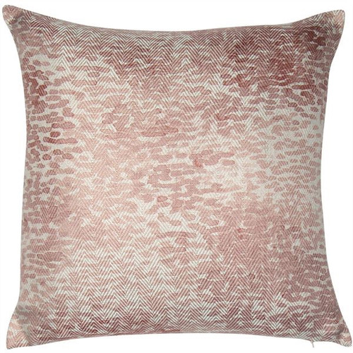 A beautiful cushion with a subtle raindrop design in shades of washed out pale pinks.