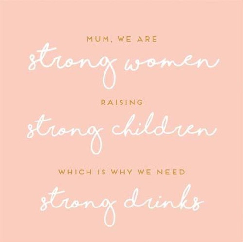 Mum Strong Women Mothers Day Card