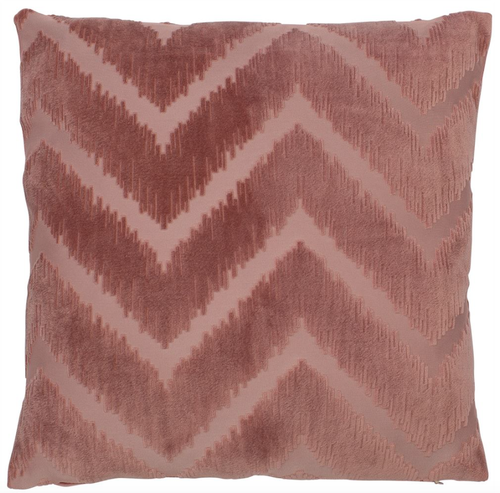 Matlock cushion cut velvet contemporary chevron pattern in pink