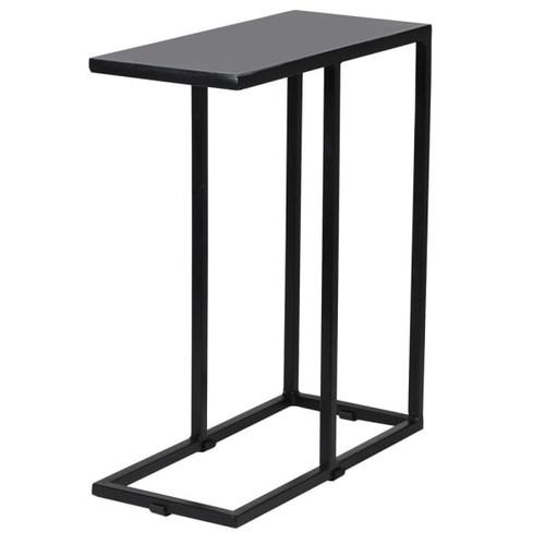 slim line grey iron side table