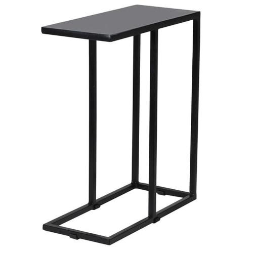 slim line grey iron side table