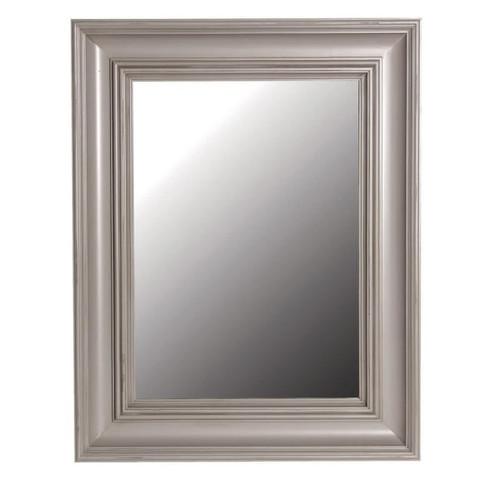 distressed grey rectangular mirror