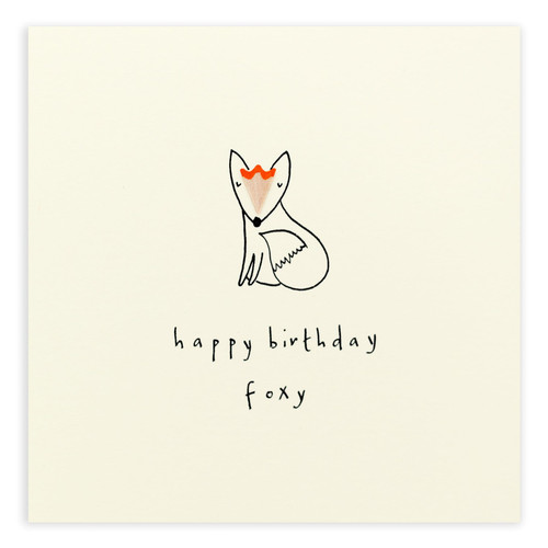 Birthday Foxy Card