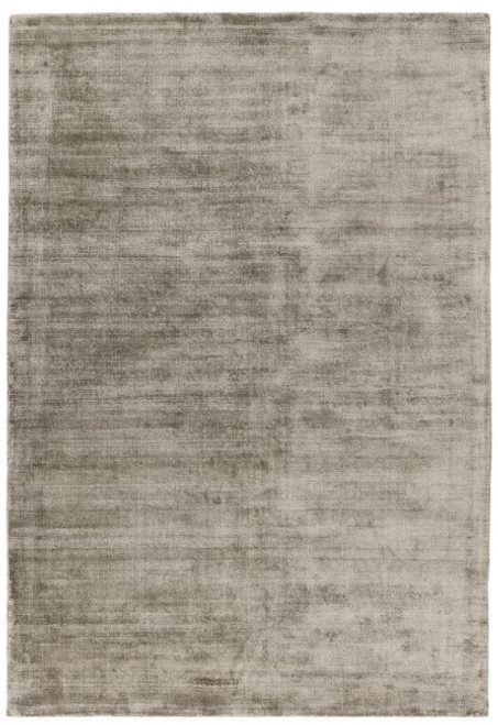 Hand woven viscose rug, with a tip-sheared distressed effect in moleskin
