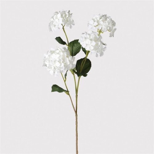 hydrangea stem spray in white