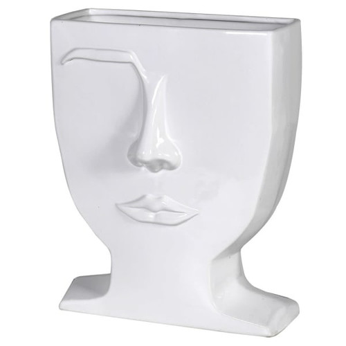 face vase, eyebrow white vase