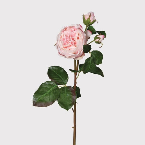 real feel rose, pink, realistic faux flower