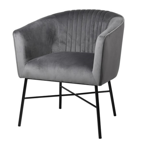 the plush velvet accent Chair with its elegant lines, classiccolour, and detail stitchingto the back