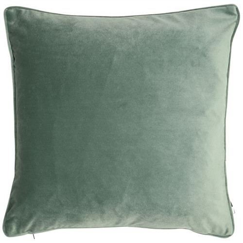 soft matte velvet square cushion with piped-edge detailing