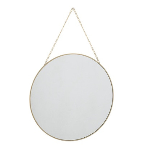 delicate metal edged mirror. Bloomingville