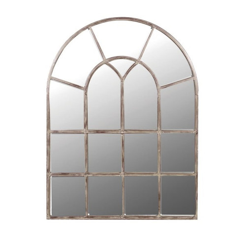 sectional wall mirror, made of Iron. Style above a console with two of our skinny table lamps for added drama.