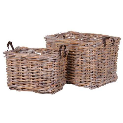 The perfect light Willow sturdy log basket , ideal for extra storage or at the fireside.