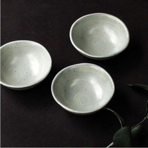 Matt Sage Small Dipping Bowl, Hand Glazed