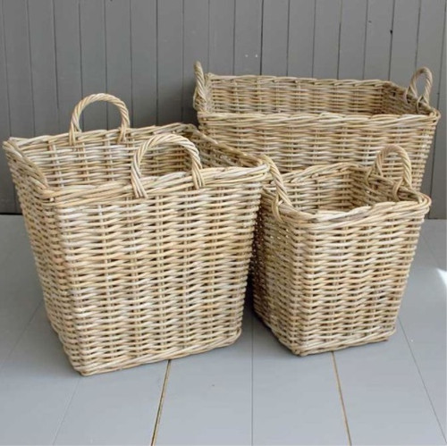 Washed Willow Baskets, Varying Sizes