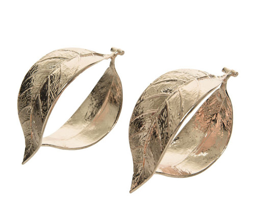 Gold Set of Leaf Napkin Rings