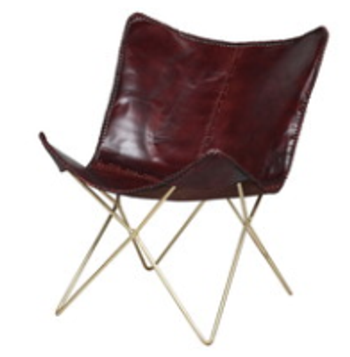 oxe blood butterfly chair