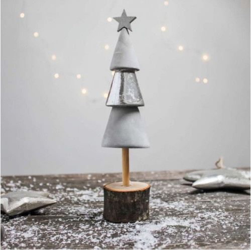Timber and Cement miniature Christmas tree