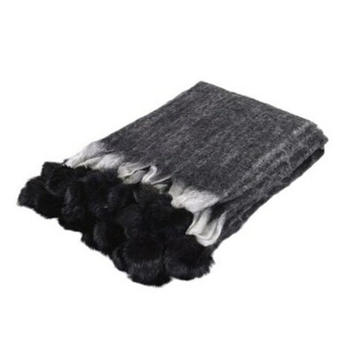 black rabbit pom pom throw coach house