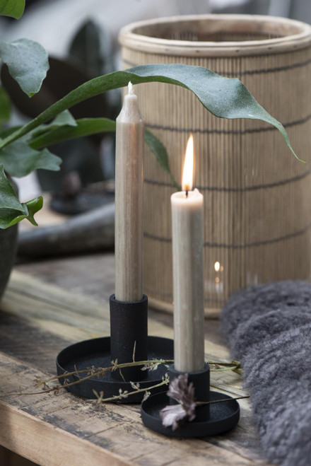 tall rustic dinner candle by ib laursen