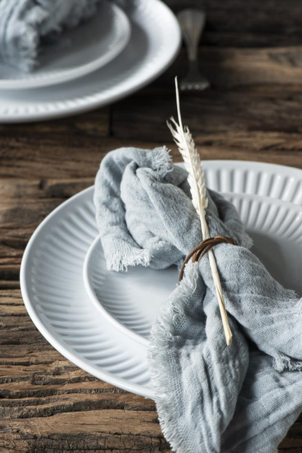 cotton napkin . A soft yet practical large napkin in a range of colours. pink . grey. light blue