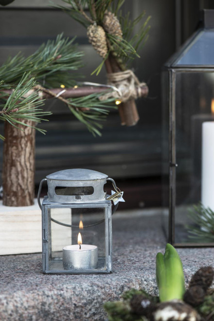 small zinc lantern for tealight