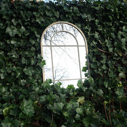 outdoor curved mirror, window pain