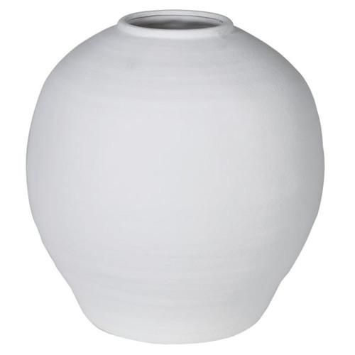 large white ceramic white matt vase