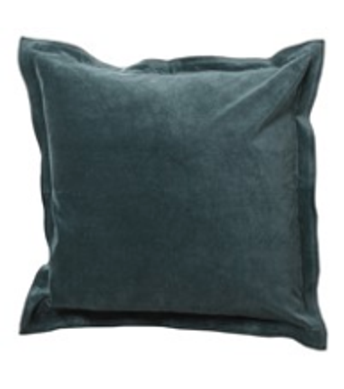 A luxurious green velvet and linen large statement cushion, works beautifully with our green velvet throw.  Price includes a deep filled feather inner.