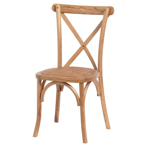 Light Oak Cross Back Dining Chair