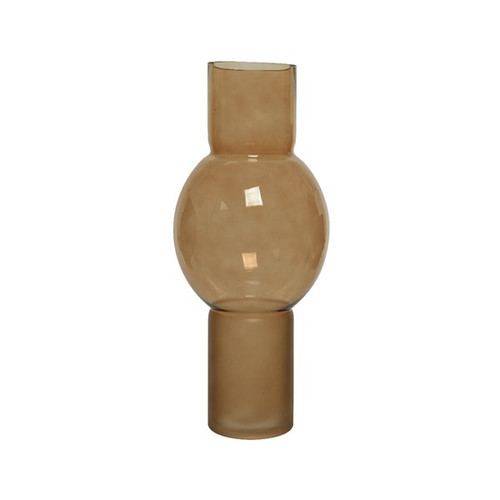 boho inspired light brown / tan glass vase
