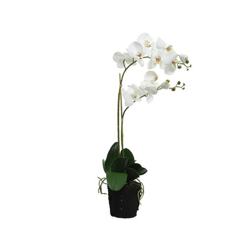 realistic faux white orchid