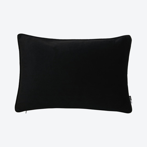 Luxe Rectangle Black Cushion